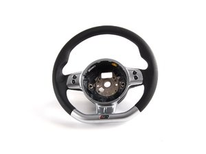 ES#1258169 - 8E0419091CT8UD - RS4 Flat Bottom Steering Wheel - Leather - Perforated leather and brushed aluminum - Genuine European Volkswagen Audi - Audi
