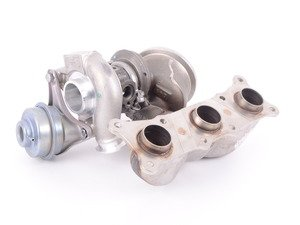 ES#3146931 - 11657649291 - Rear Turbocharger With Exhaust Manifold - Brand new original equipment turbo for your N54 powered BMW - Mitsubishi Turbocharger - BMW