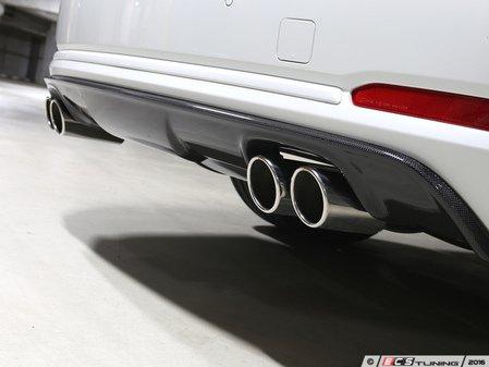 ES#3175938 - 3108-23431 - Carbon Fiber Rear Diffuser - Quad Exhaust - Individualize your BMW's looks with this carbon fiber rear diffuser - 3D Design - BMW