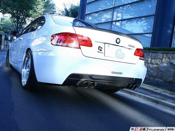 ES#3175915 - 3108-19211 - Carbon Fiber Rear Diffuser - Dual Exhaust - Individualize your BMW's looks with this carbon fiber rear diffuser - 3D Design - BMW