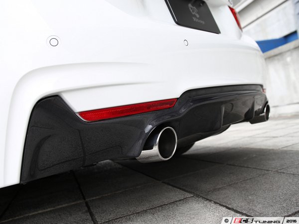 ES#3175936 - 3108-23231 - Carbon Fiber Rear Diffuser - Dual Exhaust - Individualize your BMW's looks with this carbon fiber rear diffuser - 3D Design - BMW