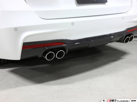 ES#3175934 - 3108-23041 - Carbon Fiber Rear Diffuser - Quad Exhaust - Individualize your BMW's looks with this carbon fiber rear diffuser - 3D Design - BMW