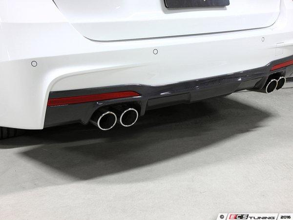 ES#3175934 - 3108-23041 - Carbon Fiber Rear Diffuser - Quad Exhaust - Individualize your BMW's looks with this carbon fiber rear diffuser - 3D Design - BMW