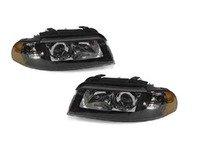 ES#2807938 - 3411107PUH2 - Xenon Headlight Set - Black - Ditch those stock headlights! - Depo - Audi