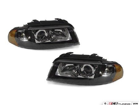 ES#2807938 - 3411107PUH2 - Xenon Headlight Set - Black - Ditch those stock headlights! - Depo - Audi