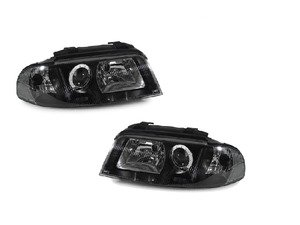 ES#2807939 - 3411107PUH2C - Xenon Headlight Set - Black - Ditch those stock headlights! - Depo - Audi