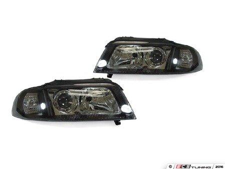 ES#2808088 - 4411137PNDEM2 - Halogen Projector Headlight Set - Black - Ditch those stock headlights! - Depo - Audi