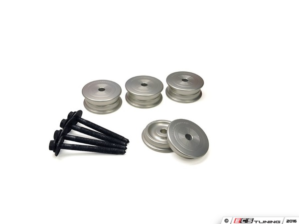 ES#3178069 - 034-601-0011 - Billet Rear Subframe Bushing Kit - Maintain proper suspension geometry when cornering and reduce rear subframe movement - 034Motorsport - Audi