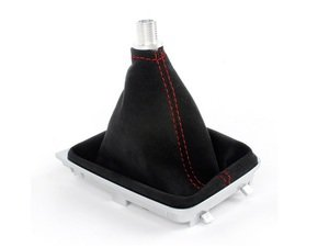 ES#3178009 - 5234-1K-232 - BFI DSG / Automatic Alcantara Shift Boot - Red Stitching - Compliment your BFI shift knob with a custom shift boot made from the finest materials available - Black Forest Industries - Volkswagen