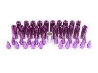 ES#3176137 - 20PC60PPSPKLKM14 - Locking Spiked Lug Nuts - Purple  - Set of 20 Purple Sickspeed Lug Nuts and spikes. - Sickspeed - Audi BMW Volkswagen MINI