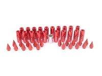 ES#3176129 - 20PC60REDSPKLKM - Locking Spiked Lug Nuts - Red  - Set of 20 Red Sickspeed Lug Nuts and spikes. - Sickspeed - Audi BMW Volkswagen MINI