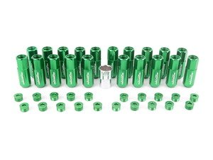 ES#3176139 - 20PC60GRNCAPLKM1 - Locking Capped Lug Nuts - Green - Set of 20 Green Sickspeed Lug Nuts and caps. - Sickspeed - Audi BMW Volkswagen MINI