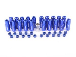 ES#3176138 - 20PC60BLUCAPLKM1 - Locking Capped Lug Nuts - Blue - Set of 20 Blue Sickspeed Lug Nuts and caps. - Sickspeed - Audi BMW Volkswagen MINI