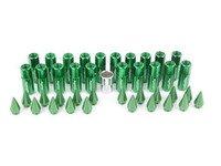 ES#3176134 - 20PC60GRNSPKLK - Locking Spiked Lug Nuts - Green - Set of 20 Green Sickspeed Lug Nuts and spikes. - Sickspeed - Audi BMW Volkswagen MINI