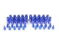ES#3176130 - 20PC60BLUSPKLKM1 - Locking Spiked Lug Nuts - Blue  - Set of 20 Blue Sickspeed Lug Nuts and spikes. - Sickspeed - Audi BMW Volkswagen MINI