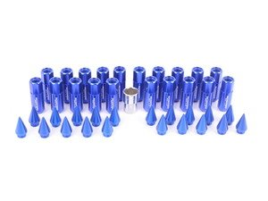 ES#3176130 - 20PC60BLUSPKLKM1 - Locking Spiked Lug Nuts - Blue  - Set of 20 Blue Sickspeed Lug Nuts and spikes. - Sickspeed - Audi BMW Volkswagen MINI