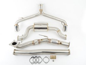 "ES#3220349 - 5V1310 - MK6 GTI 2.0T 3"" Turbo Back Exhaust System - Get that Exhaust tone you've been looking for! Features 3"" turboback construction with high flow cat and dual polished tips - CobbTuning - Volkswagen"