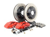 ES#3024272 - 83.137.4700.71 - front 4 piston Big Brake Kit (355x32) - Upgrade to 2 piece rotors (slotted), (4) piston calipers (red), & high performance pads - StopTech - BMW