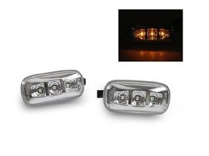 ES#3170725 - 446-1401PXBQVC - LED Side Marker Set - Clear - Includes the left and right side markers for plug and play installation - Depo - Audi
