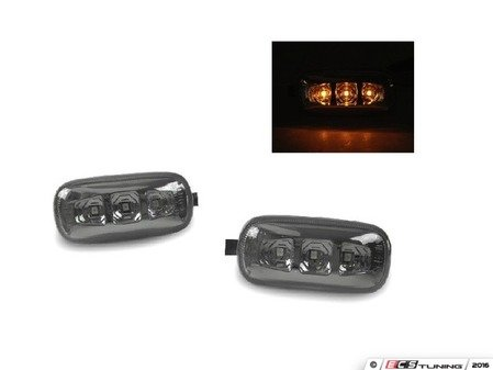 ES#3170726 - 446-1401PXBQVS - LED Side Marker Set - Smoke - Includes the left and right side markers for plug and play installation - Depo - Audi