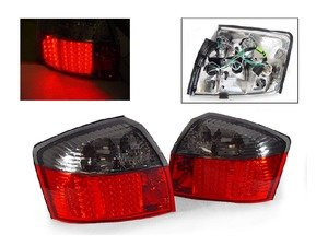 ES#2808118 - 4411946PTAESR - LED Tail Light Set - Red/Smoked - Upgrade your stock tails with these Smoked LED tail lights - Depo - Audi