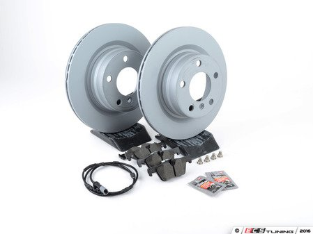 ES#2862348 - 34216792227kt2 - Rear Brake Service Kit - Featuring Zimmermann rotors and Textar pads - Assembled By ECS - BMW