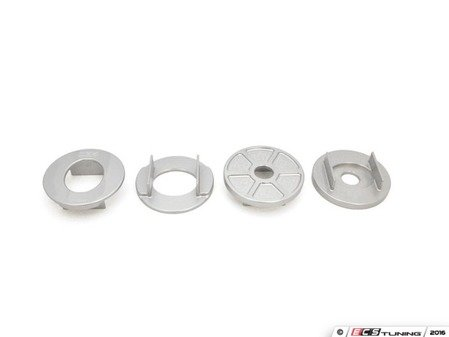 ES#3183581 - 034-601-0038 - Billet Rear Subframe Mount Insert Kit - Maintain proper suspension geometry when cornering and reduce rear subframe movement - 034Motorsport - Audi