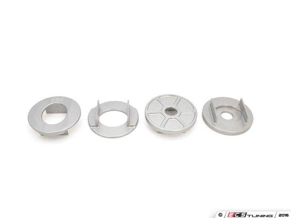 ES#3183581 - 034-601-0038 - Billet Rear Subframe Mount Insert Kit - Maintain proper suspension geometry when cornering and reduce rear subframe movement - 034Motorsport - Audi