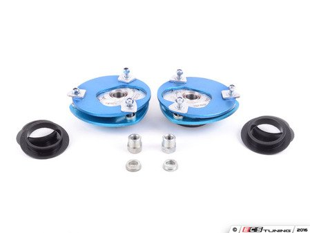 ES#3149827 - 141616-2L - Stage 2 Camber Plates  Street/Track - Easily adjust front camber for the first time, with additional caster adjustment - installs in place of stock strut mounts. Perfect for high performance daily drivers and track days! - KMAC - Audi Volkswagen