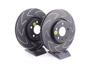 ES#3131994 - BSD1838 - Front Slotted (Blade) Brake Rotors - Pair (320x30) - The Uniquely created blade slot design helps to remove hot gases from the braking zone in a quick and efficient way - EBC - Audi