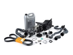 ES#2597712 - 11537558522KT - ECS Cooling System Refresh Kit - Level 2 - A more advanced refresh kit - with primary cooling system hoses and accessory belt - Assembled By ECS - BMW