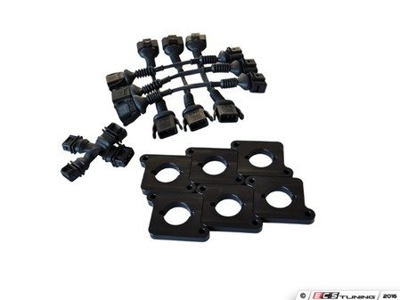 ES#2864555 - 034-107-7000-BLK - Coil Conversion & ICM Delete Kit - 2.7T to 2.0T FSI Coils  - Tired of swapping ICMs and coils around trying to figure out the source of pesky misfires? - 034Motorsport - Audi