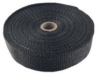 "ES#3183727 - TS-EW-1X50BK - Universal Fiberglass Exhaust Wrap - 1"" X 50ft - Increase power by containing exhaust heat - Black - Torque Solution - Audi BMW Volkswagen Mercedes Benz MINI Porsche"