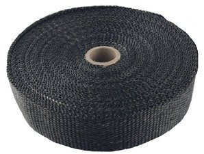ES#4028214 - TS-EW-BK - Universal Fiberglass Exhaust Wrap - Black - Increase power by containing exhaust heat - Black - Torque Solution - Audi BMW Volkswagen Mercedes Benz MINI Porsche