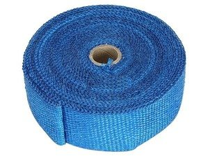 ES#4028216 - TS-EW-BU - Universal Fiberglass Exhaust Wrap - Blue - Increase power by containing exhaust heat - Blue - Torque Solution - Audi BMW Volkswagen Mercedes Benz MINI Porsche