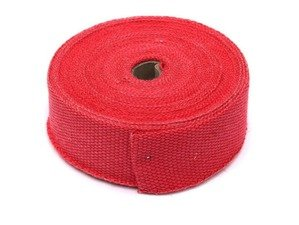 "ES#3183735 - TS-EW-1X50R - Universal Fiberglass Exhaust Wrap - 1"" X 50ft - Increase power by containing exhaust heat - Red - Torque Solution - Audi BMW Volkswagen Mercedes Benz MINI Porsche"
