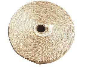 ES#4028213 - TS-EW-T - Universal Fiberglass Exhaust Wrap - Tan - Increase power by containing exhaust heat - Tan - Torque Solution - Audi BMW Volkswagen Mercedes Benz MINI Porsche