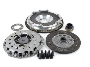 ES#3108290 - 520-150-240KT - JB Racing Lightweight Aluminum Flywheel & Clutch Kit - Includes a JB Racing aluminum single-mass flywheel and a new OE clutch! - Assembled By ECS - BMW