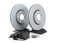 ES#3172575 - 1j0698451kt2 -  MK4 GTI/Golf/Jetta/Beetle Economy Front Brake Service Kit (288x25) - Coated Optimal Rotors and Vaico Brake pads - Only the essentials to perform a brake service - Assembled By ECS - Volkswagen