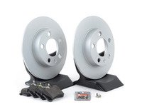 ES#3173520 - 1J0698014KT2 -  Economy Rear Brake Service Kit (232x9) - Coated Optimal Rotors and Jurid Brake pads - Only the essentials to perform a brake service - Assembled By ECS - Volkswagen
