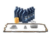 ES#3173515 - 11137548031KT1 - Oil Pan Gasket replacement kit - Includes new pan gasket, hardware and a oil service kit - Genuine BMW - BMW