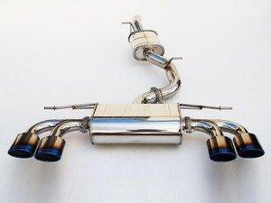 "ES#3184174 - HS14GFRG3T - 3"" Cat-Back Exhaust System - Resonated - Featuring quad oval, titanium burnt tips - Invidia - Volkswagen"