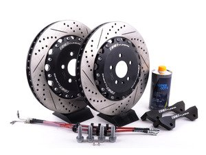 ES#3183941 - 003883ecs01KT3 - Front Big Brake Kit - Stage 4 - 2-Piece Rotors (380x34)  - Featuring ECS 380mm 2-piece rotors, ECS Stainless lines, and caliper brackets - Excludes calipers - ECS - Audi