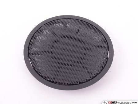 ES#98538 - 51416969392 - Black Door Mid-Range Speaker Cover - Priced Each - Fits left and right side, front and rear locations. - Genuine BMW - BMW