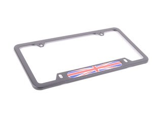 ES#196098 - 82120306811 - MINI Union Jack License Plate Frame - Black - Priced Each - Add the union jack look to your plate - Genuine MINI - MINI