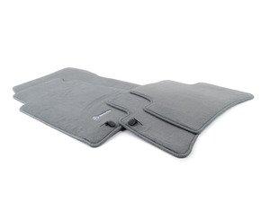 ES#1827650 - Q6680292 - Carpeted Floor Mat Set - Grey - Genuine Mercedes Benz - Mercedes Benz