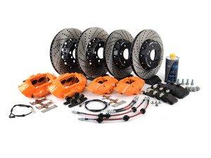 ES#3184077 - 009607ECS01AKT8 - ECS M Performance Front & Rear Big Brake Kit - Orange - Upgrade to M Performance calipers, 370x30mm 2-piece rotors, Genuine BMW pads, & ECS Exact-fit brake lines - ECS - BMW