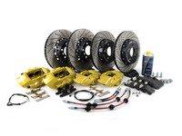 ES#3184078 - 009607ecs01aKt9 - ECS M Performance Front & Rear Big Brake Kit - Yellow - Upgrade to M Performance calipers, 370x30mm 2-piece rotors, Genuine BMW pads, & ECS Exact-fit brake lines - ECS - BMW