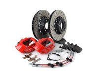 ES#3184053 - 009607ECS01AKT2 - ECS F30 M Performance Front Big Brake Kit - Red - Upgrade to M Performance calipers and 370x30mm 2-piece front rotors with Genuine BMW pads - ECS - BMW