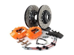 ES#3184076 - 009607ECS01AKT7 - ECS F30 M Performance Front Big Brake Kit - Orange - Upgrade to M Performance calipers and 370x30mm 2-piece front rotors with Genuine BMW pads - ECS - BMW